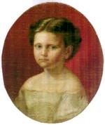 Tableau de Maria Lucia Chiappini peinte par son père Marie-Jean Antoine...